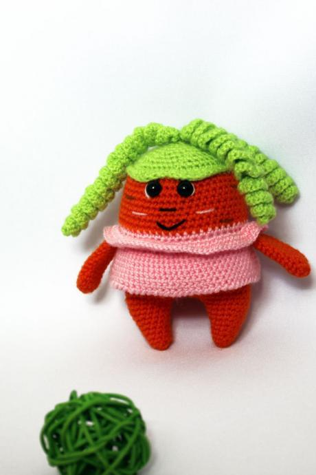 Crochet toy carrot, Soft toy, Toy Gift, Knitted food, Toy food, Expecting mom gift, Soft Toy Gift